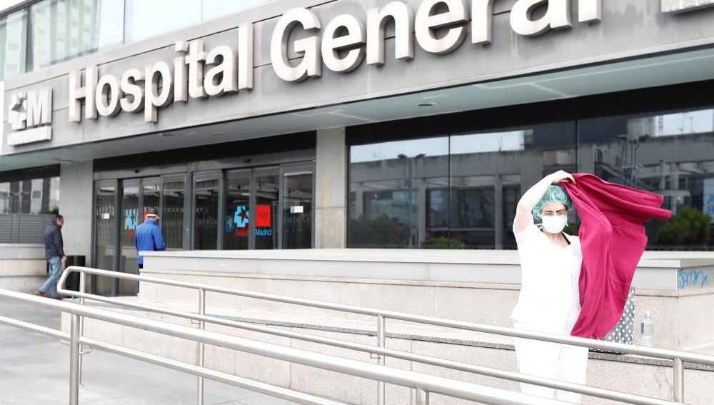 Sanitaria en el Hospital de La Paz