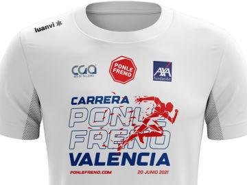 La camiseta de la Carrera Ponle Freno Valencia