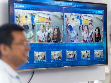 Software de reconocimiento facial en un supermercado chino