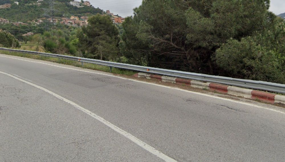Carretera deformada en Barcelona