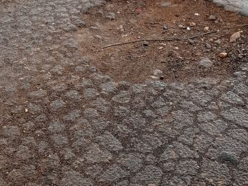 Carretera de Murcia con baches y sin iluminación