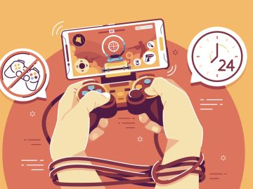 Ilustración sobre la adicción tecnológica