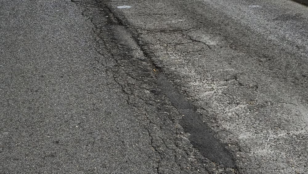 Carretera de Santander en mal estado