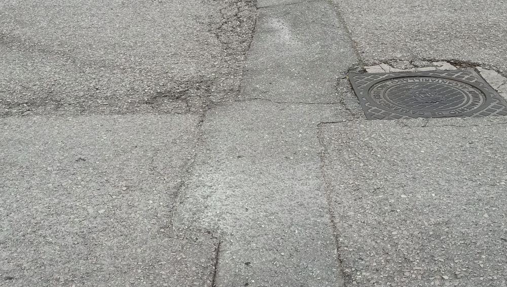 Carretera hundida y ruidosa en Cantabria