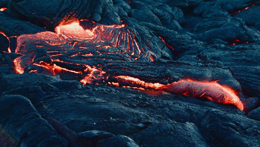 Lava de una erupción volcánica