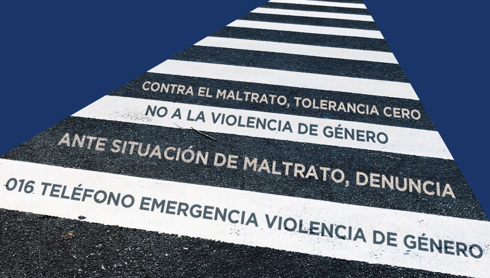 Mensajes contra la violencia de género para escribir en los pasos de peatones