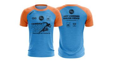 Camiseta celeste/naranja Carrera Ponle Freno 2021