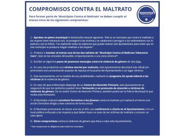 Compromisos para ser un Municipio contra el Maltrato