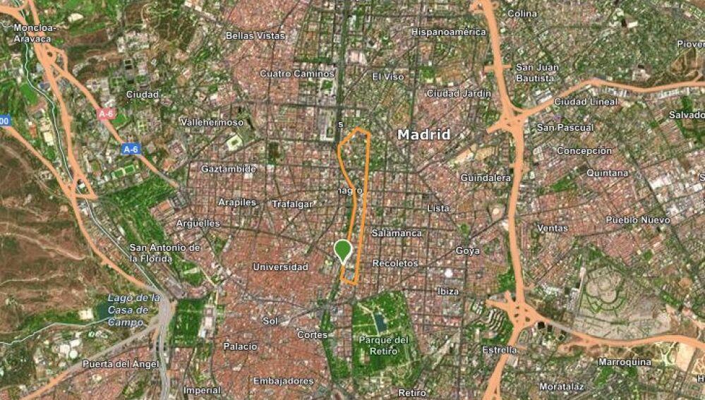 Recorrido 5 KM Carrera Ponle Freno Madrid