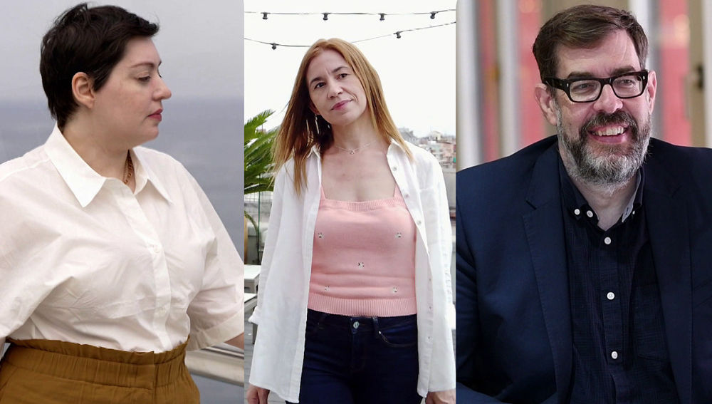 Alaitz Leceaga, María Martínez y Richard Osman en Crea Lectura
