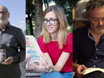 Fernando Aramburu, Rosa Molina y Santi Balmes en Crea Lectura
